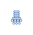 database network line icon concept vector image vector image