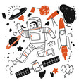 elements stories about space or astronaut vector image