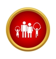 Family on walk icon simple style vector image vector image
