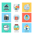 Flat Color Line Design Concepts Icons 37 vector image vector image