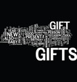 gift ideas for your nearest and dearest one text vector image vector image