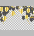 gold and black balloons confetti vector image