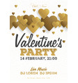 golden valentines day invitation flyer the vector image vector image