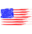 grunge american flag patriotic background flag vector image vector image