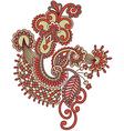 hand draw ornate doodle flower design vector image vector image