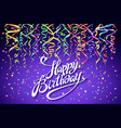 happy birthday celebration design colorful vector image