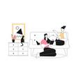happy female lgbt couple or family living together vector image