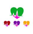 heart care logo vector image