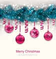 Holiday Background with Christmas Fir Branches vector image vector image