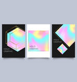 holographic poster set spectrum with gradient vector image