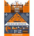 house repair work tools poster vector image vector image