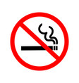 icon no-smoking sign vector image