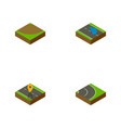 isometric way set of plash turn navigation and vector image vector image