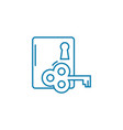 key to solving the problem linear icon concept vector image vector image