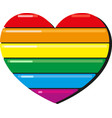 lgbt rainbow heart vector image