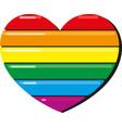 lgbt rainbow heart vector image vector image