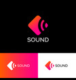 logo sound musical acoustics identity vector image vector image