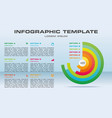 modern infographics options template with vector image