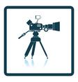 Movie camera icon vector image vector image