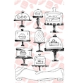 on white bakery pattern vector image
