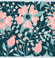 pastel colored floral seamless pattern hand drawn vector image