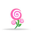 pink blossom rose logo icon vector image