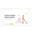 professional cleaning company service landing page vector image