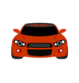 Red sport car front view vector image