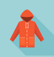 red vintage raincoat icon vector image vector image