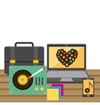 redording music icons vector image