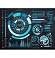 Sci-fi futuristic virtual graphic touch user vector image