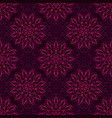 seamless purple mandala pattern vector image