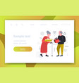 senior couple giving gift present boxes to each vector image vector image