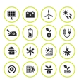 Set round icons of alternative energy sources vector image vector image