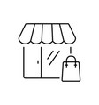 shopping icon in thin line style symbol vector image