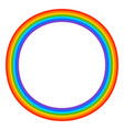 simple 7-color rainbow element on white vector image
