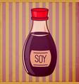 soy sauce bottle vector image
