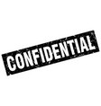 square grunge black confidential stamp vector image