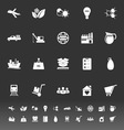 Supply chain and logistic icons on gray background vector image vector image