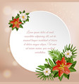 tropical paradise plate background vector image vector image