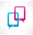 Two ipads bubble speech vector image