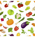 vegetables organic food seamless pattern farm vector image