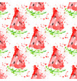 watermelon slice seamless pattern with splashes vector image vector image
