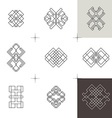 Geometric linear art elements Set of hipster style vector image