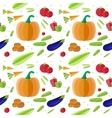 Organic food seamless pattern vector image