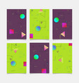 abstract geometric design banners templates vector image vector image