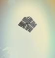 Abstract geometric logo symbol on retro futuristic vector image vector image