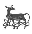 ancient celtic mythological symbol of doe vector image vector image