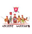 ancient warriors concept vector image vector image