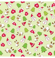 baby winter seamless pattern vector image vector image